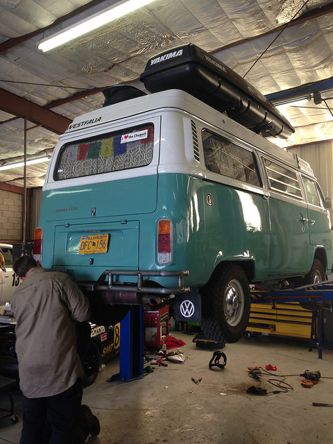 Bumper getting built at Evil Genius Racing in Sacramento. They've done a few of these now.