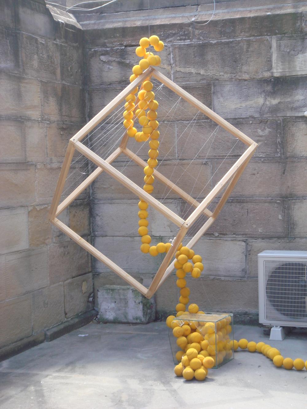Yellow Balls Falling