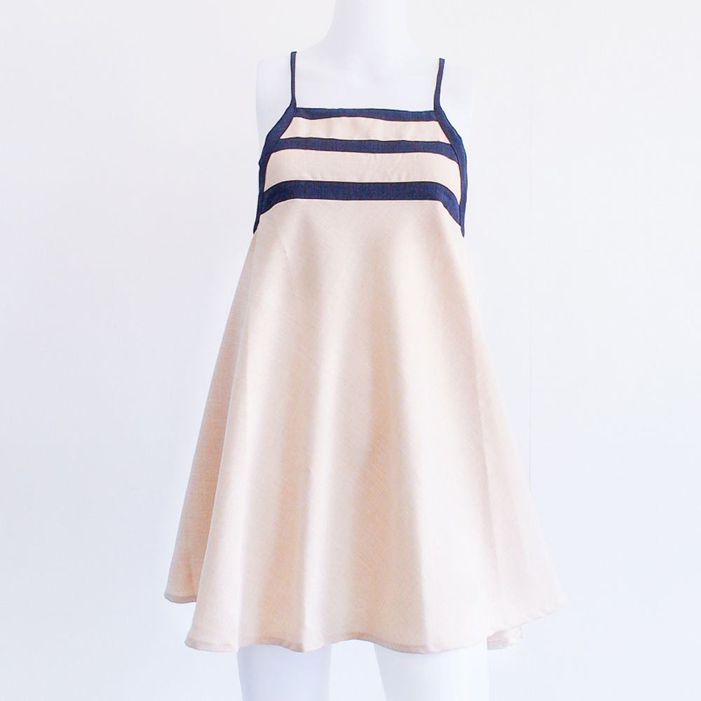 Tien - Sundress (Sand/Navy)