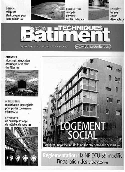 Les Cahiers Techniques du Batiment, September 2007