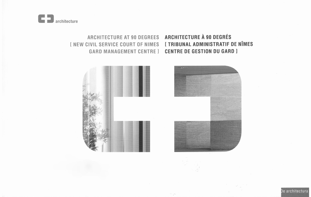 Architecture at 90 degrees, ed De architectura, 2008