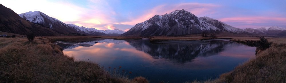South Island New Zealand fly fishing scenery