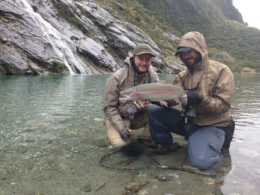 Big backcountry rainbow trout New Zealand fly fishing