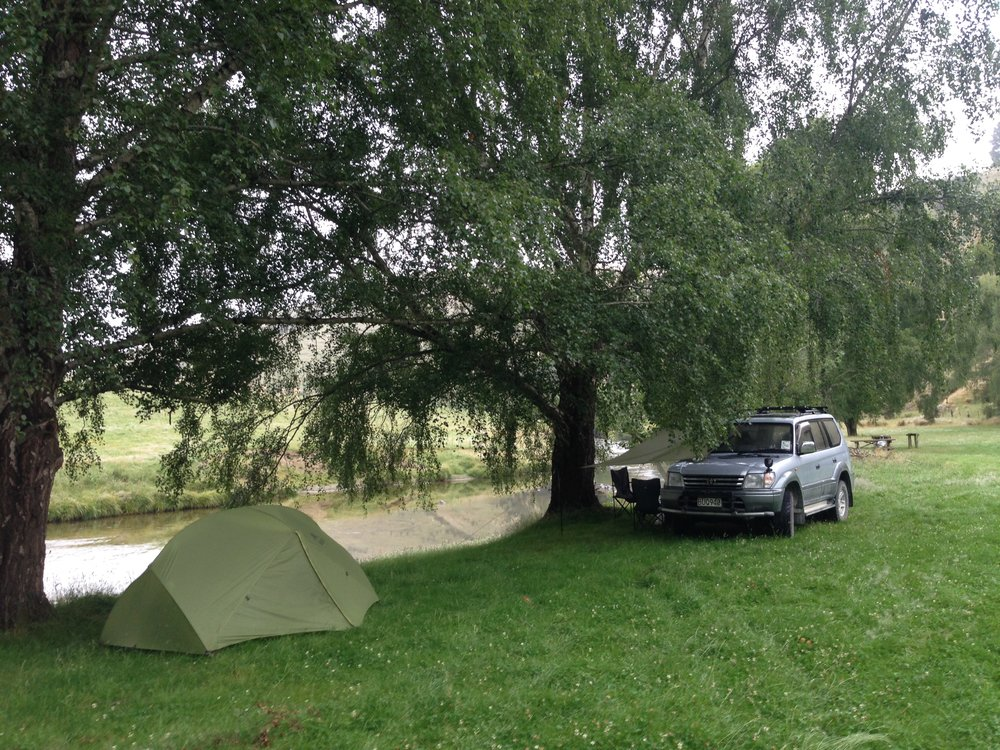 Car camping and fly fishing New Zealand