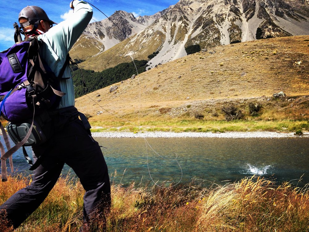 Fish on! New Zealand fly fishing
