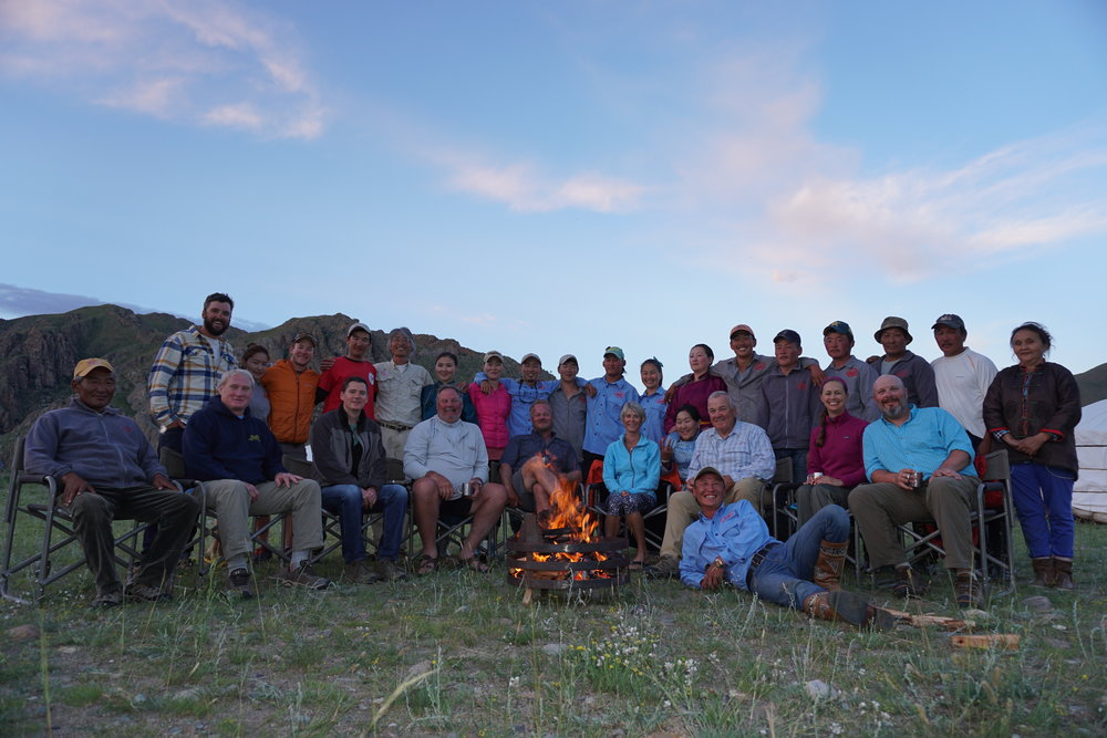 Fish Mongolia staff and clients after a successful float trip
