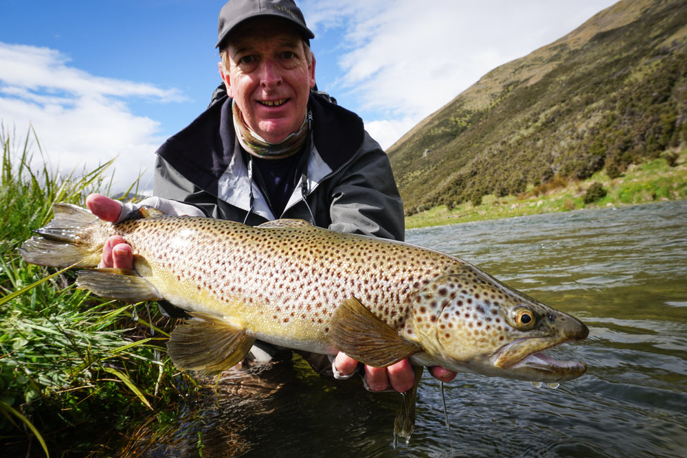 Australian fly fisherman enjoying New Zealand