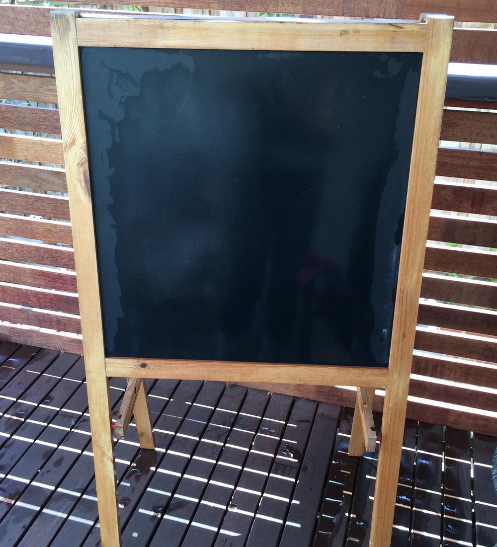 Blackboard before makeover