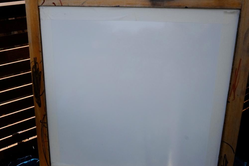 taping off the blackboard
