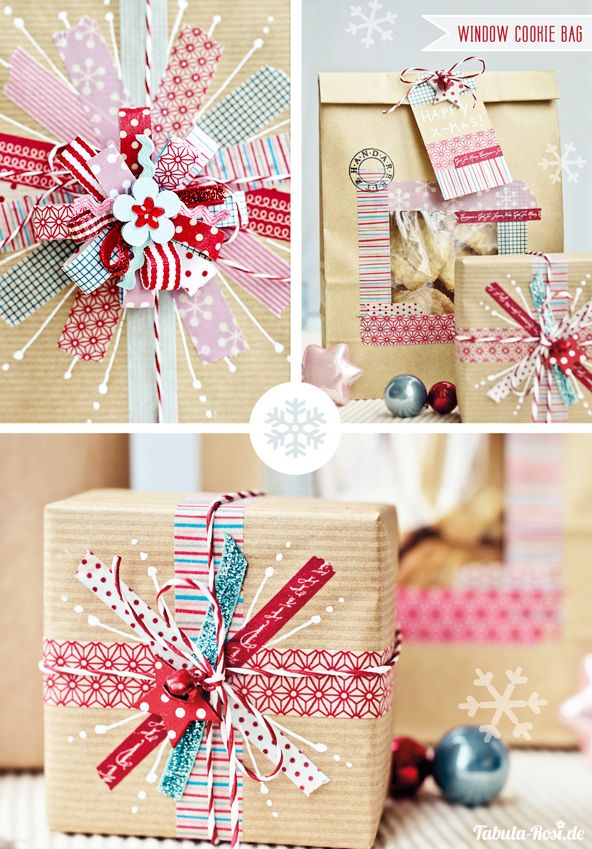 Washi Tape Wrapping  {source unknown}