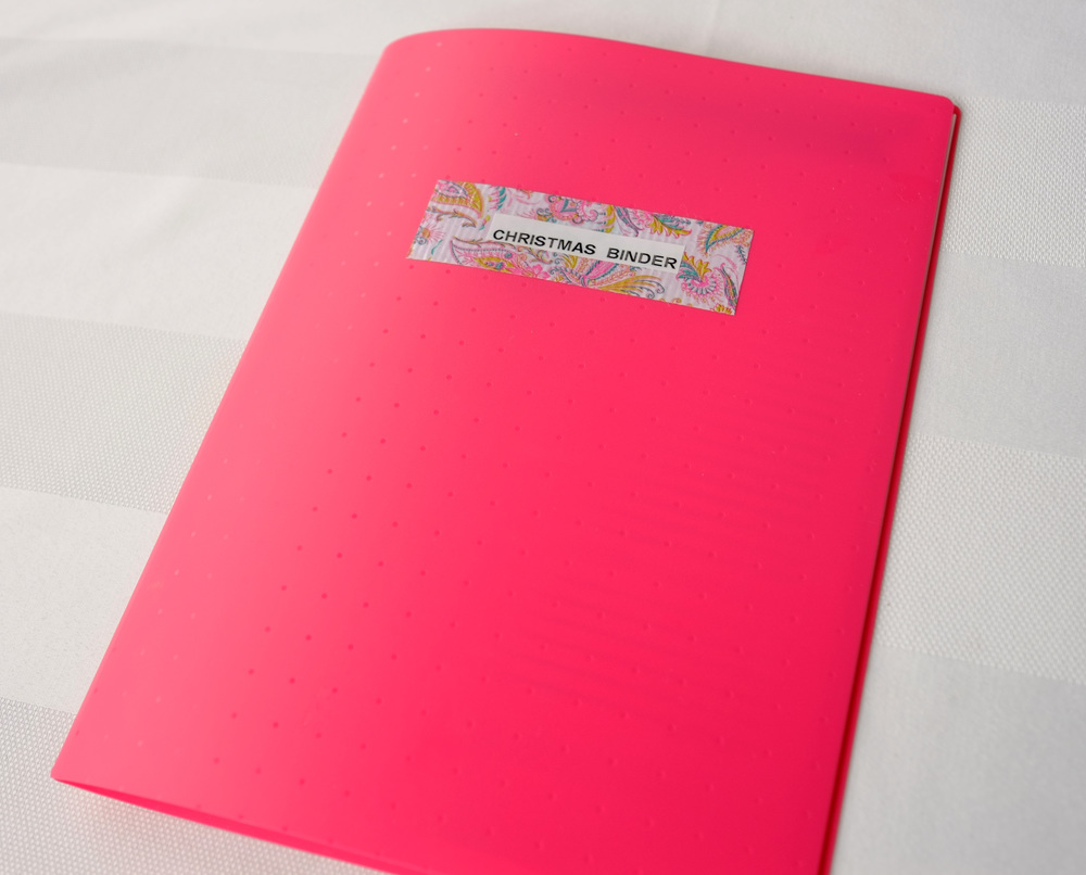 Christmas binder