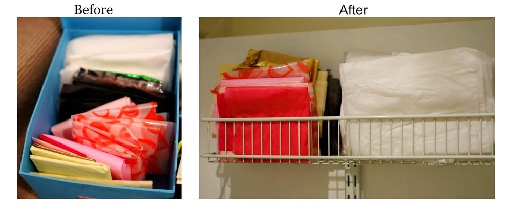 tissue paper organisation