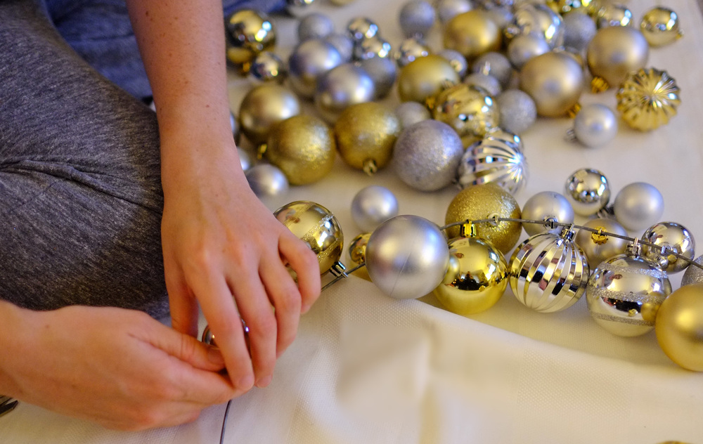 attaching baubles