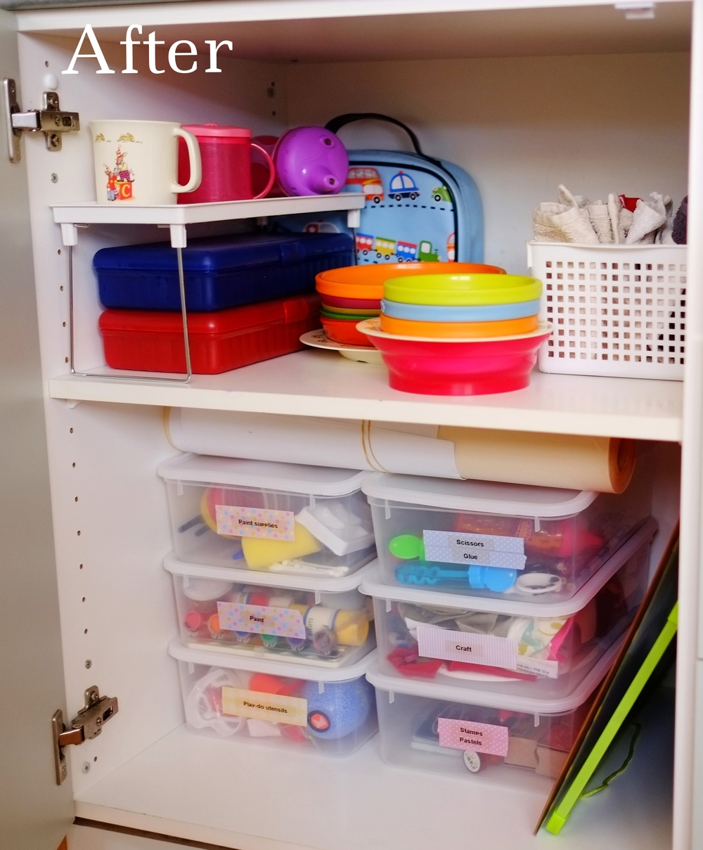 organised cupboard