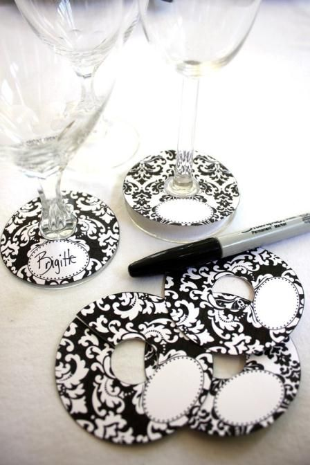 Wine glass tags