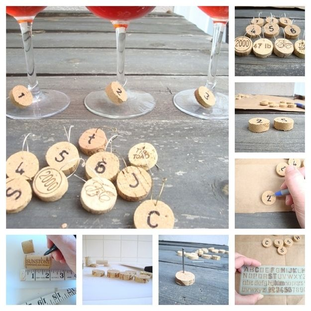 Cork wine charms