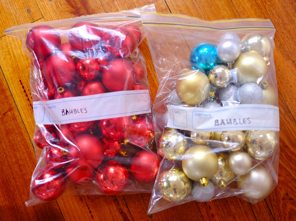 baubles organised