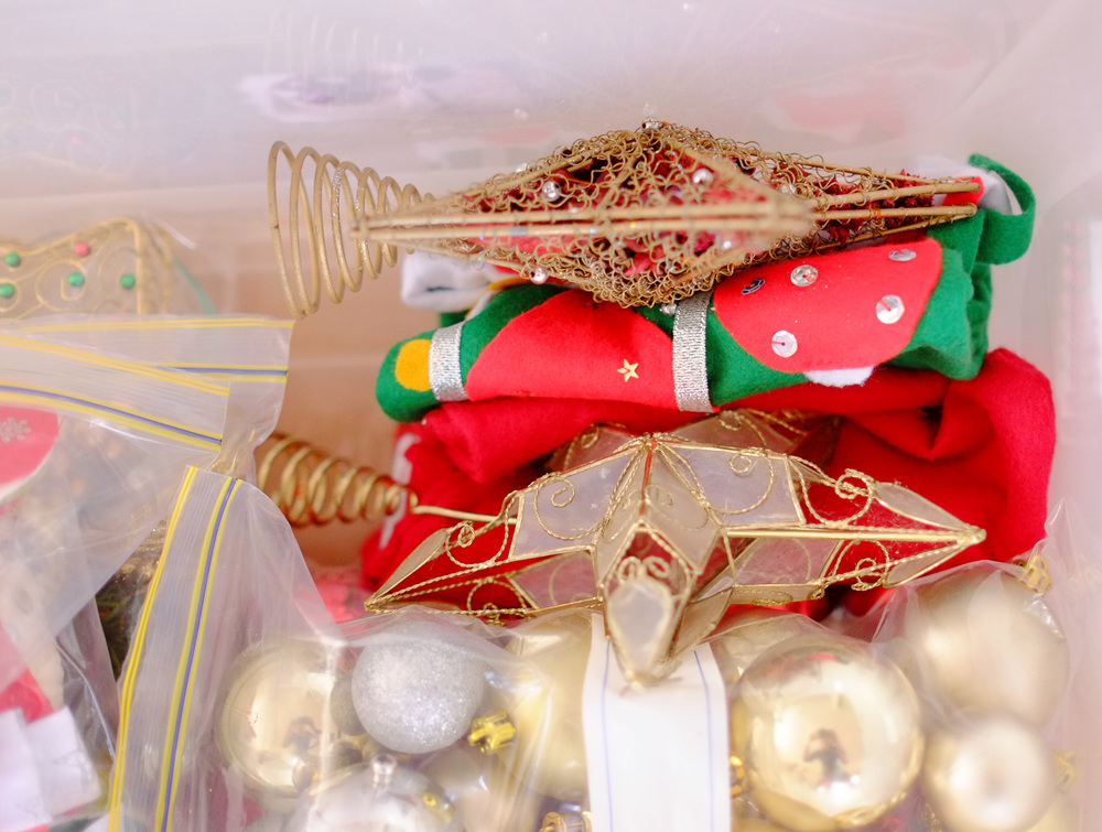 storage for Christmas stars