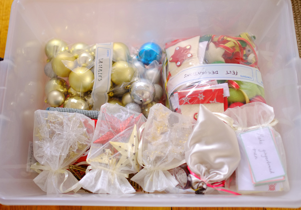Christmas decoration storage