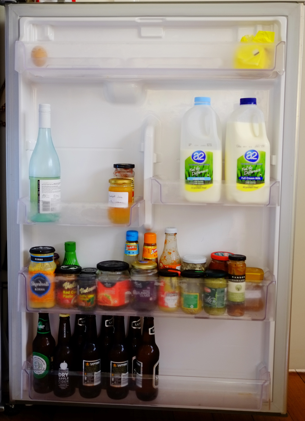 empty fridge door