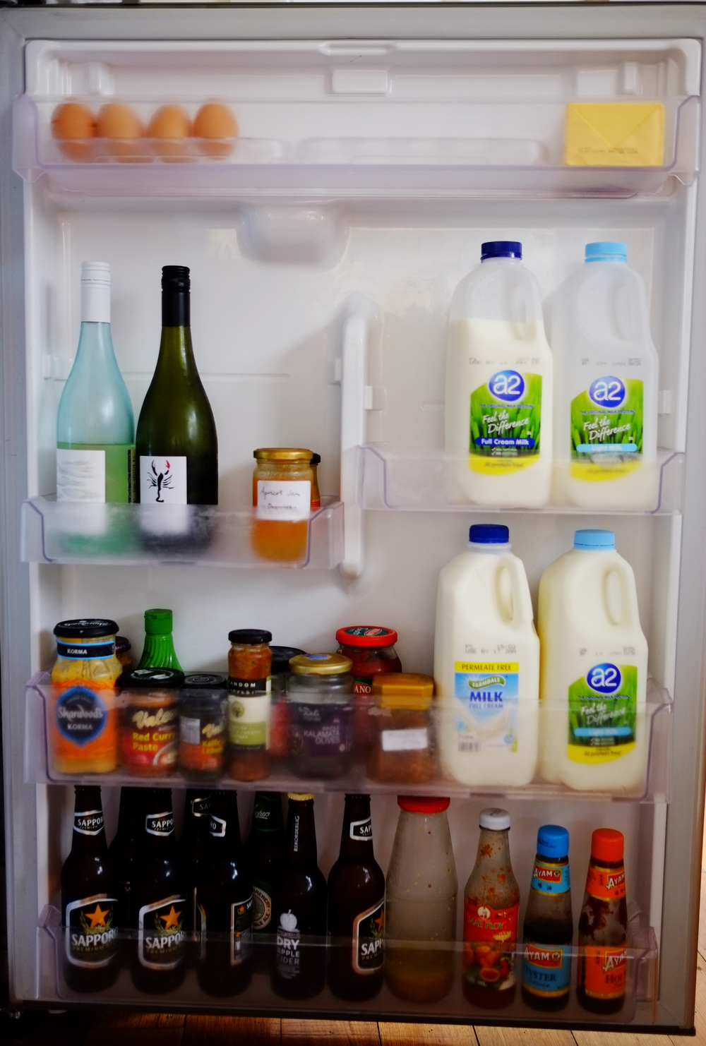fridge door organised