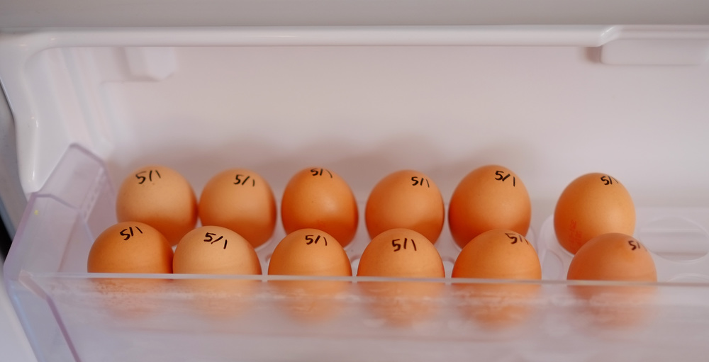 labelled eggs