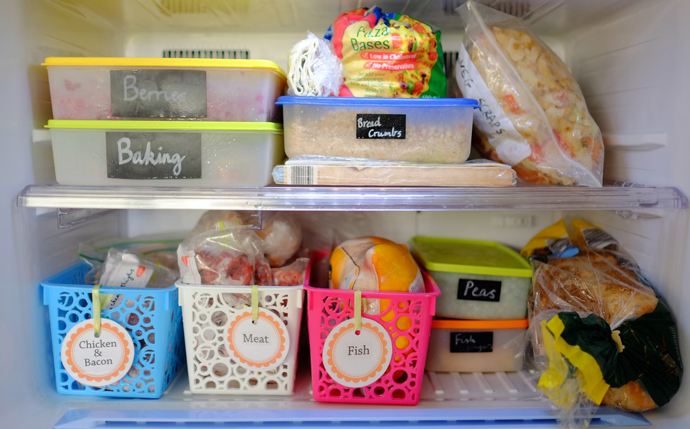 organised freezer