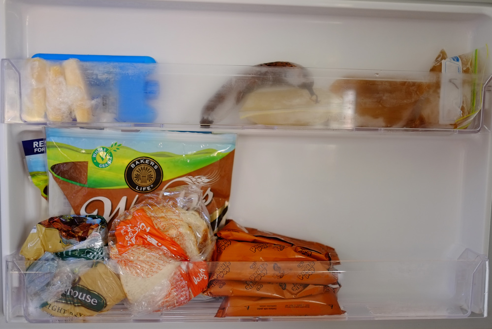 organised freezer door