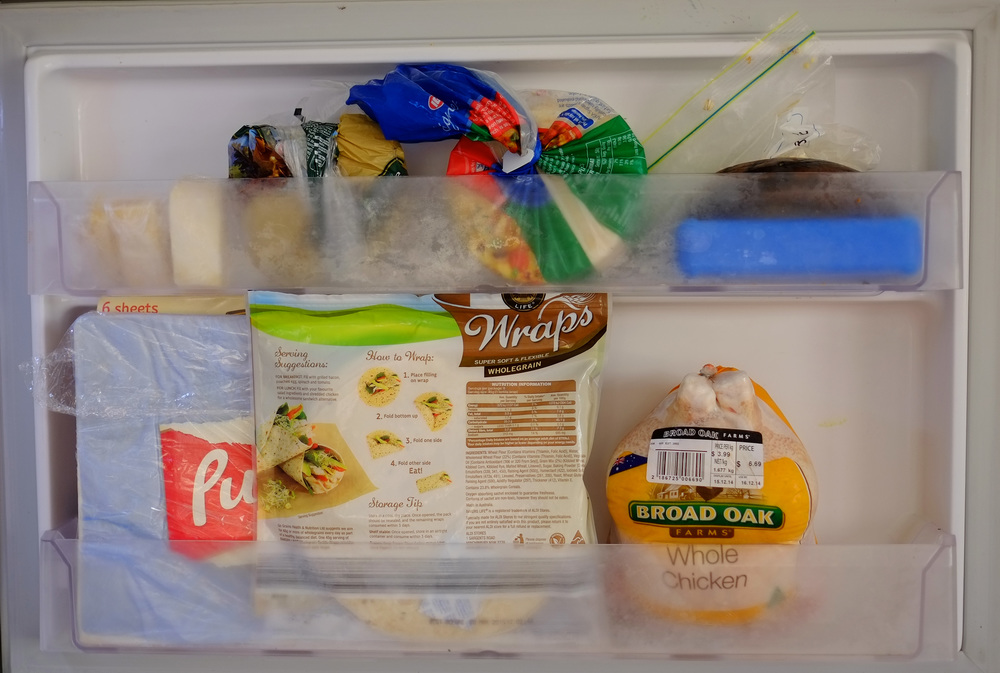 disorganised freezer door