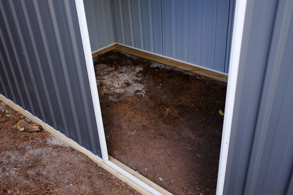 shed floor before