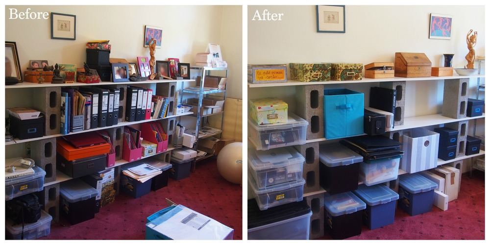 before and after home office