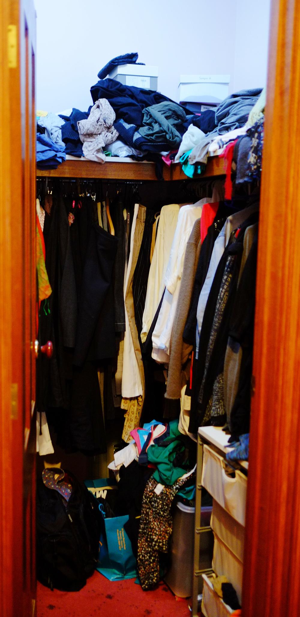 disorganised wardrobe
