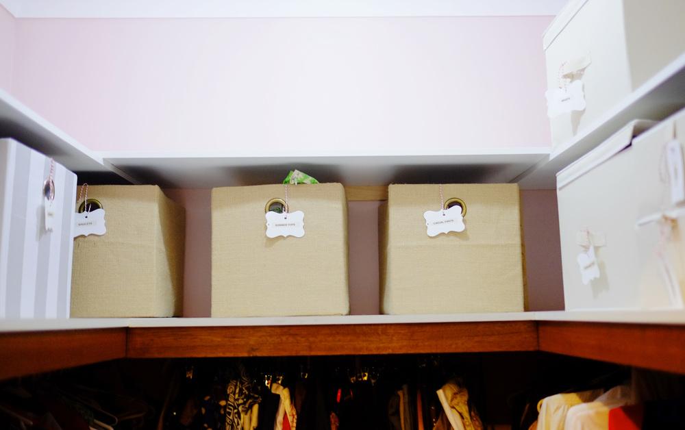organised wardrobe space
