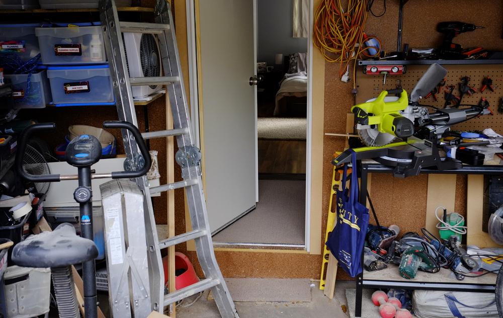 disorganised garage
