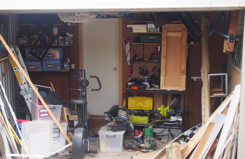 messy garage space