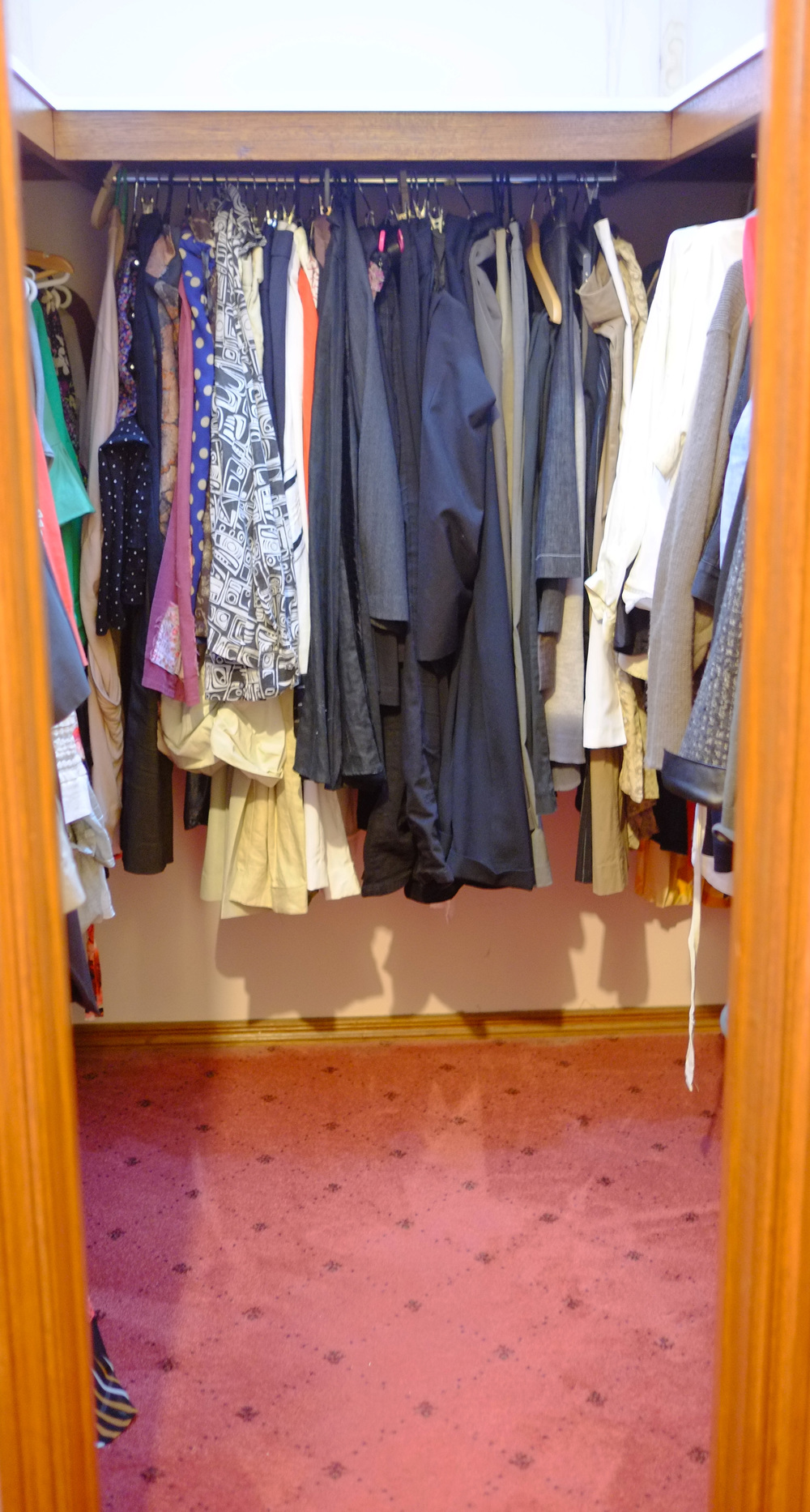 clearing space in wardrobe