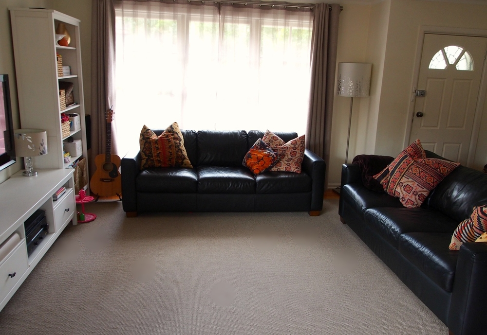 tidy living room