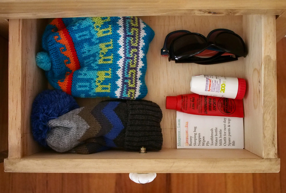 console drawer unlined