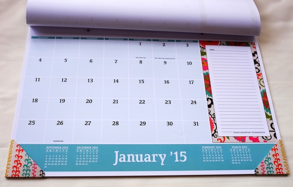 large calendar page