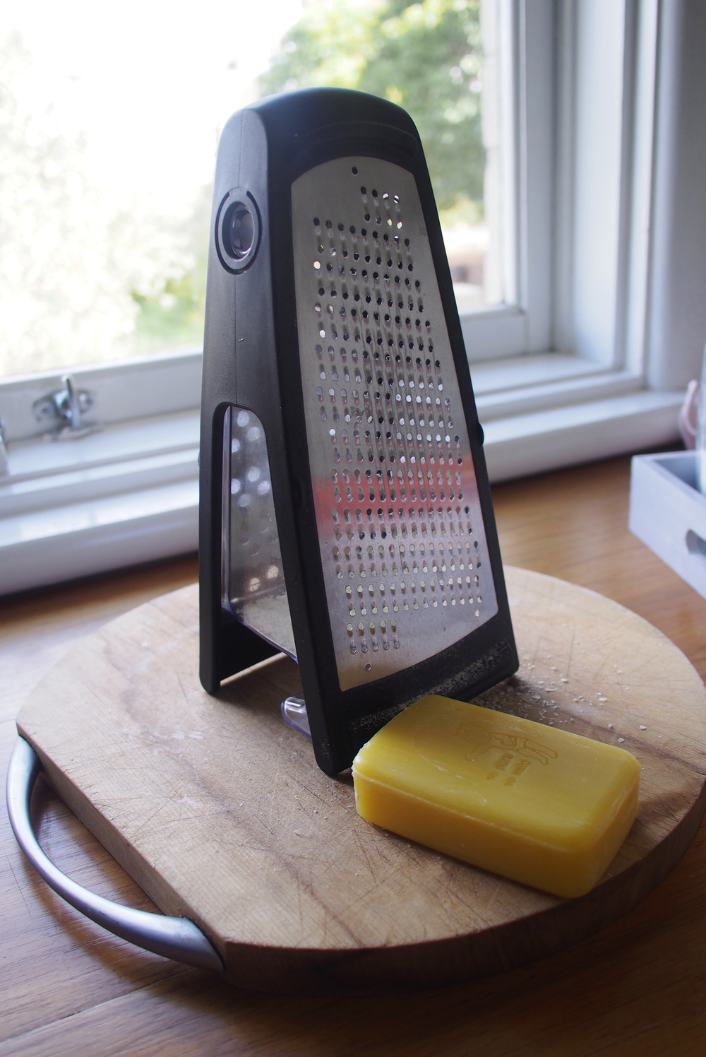 grating soap for homemade washing powder