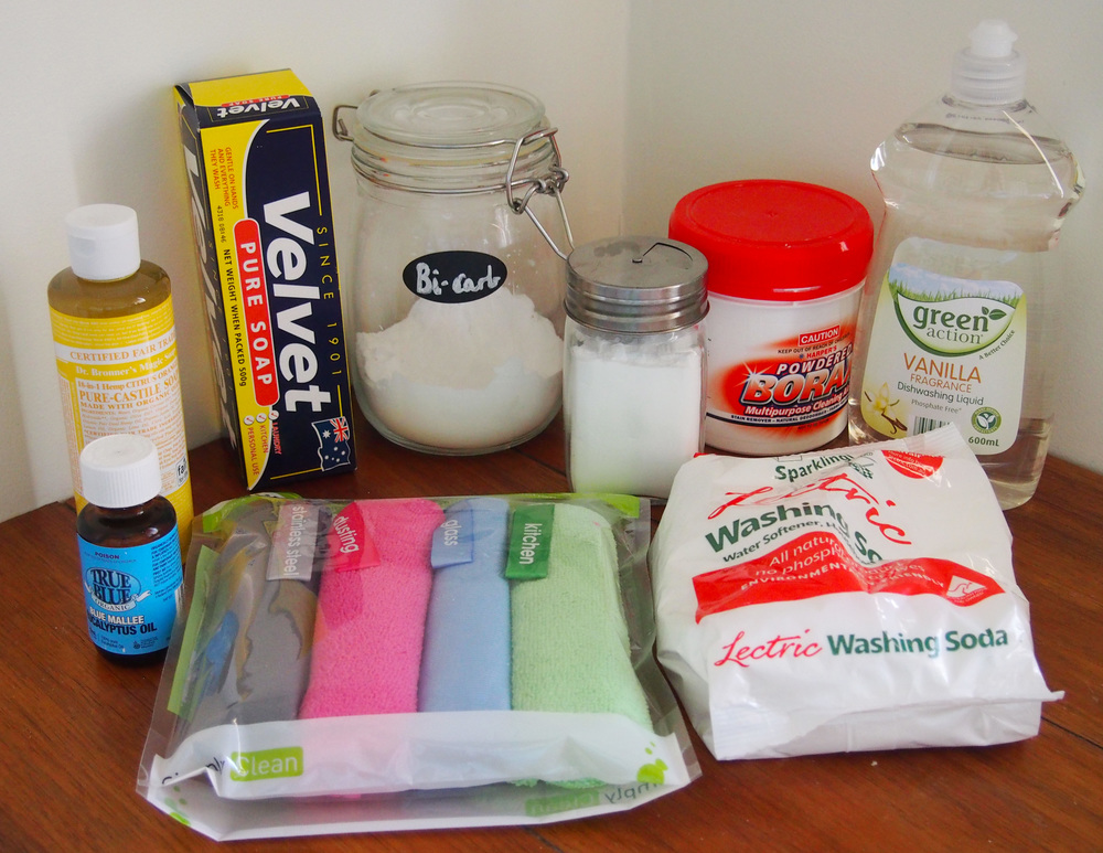 cleaning supplies for homemade cleaners