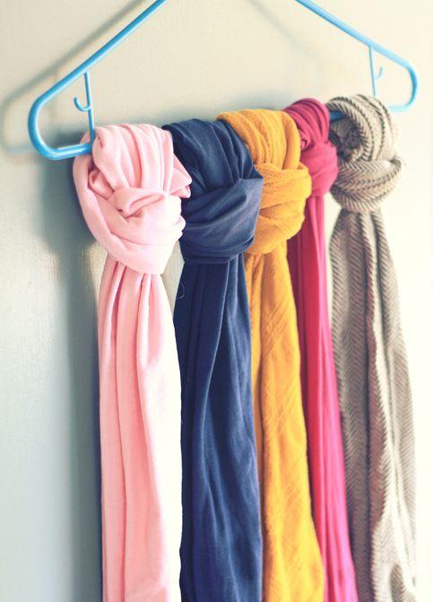 organising scarves