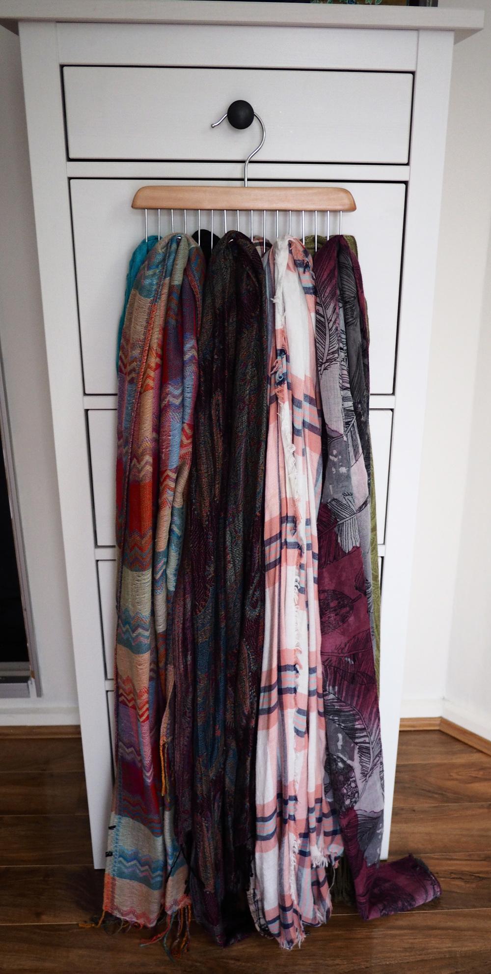 scarf storage and organisation