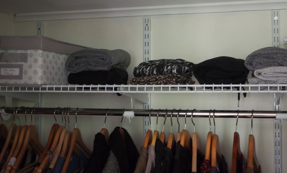 shelving system for the wardrobe