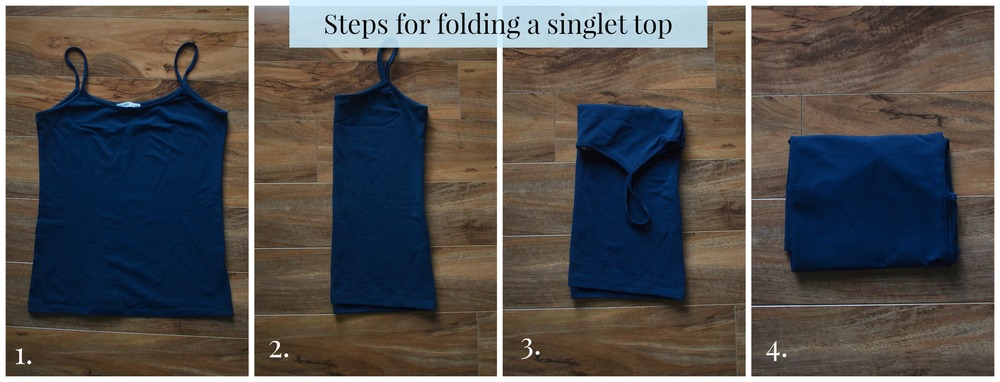how to fold a singlet top