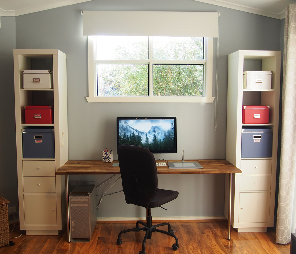 home office desk area
