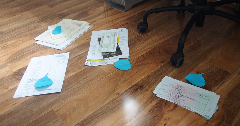 Sorting the paperwork