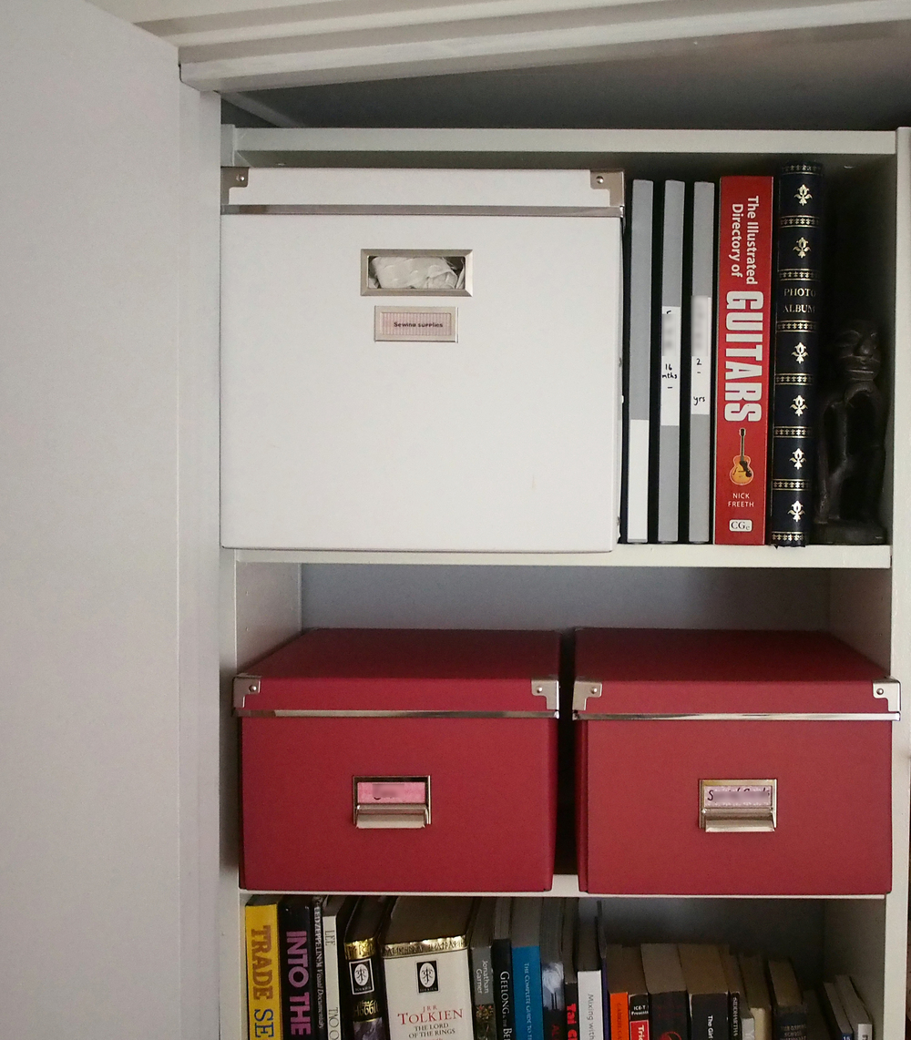 organising storage cupboard