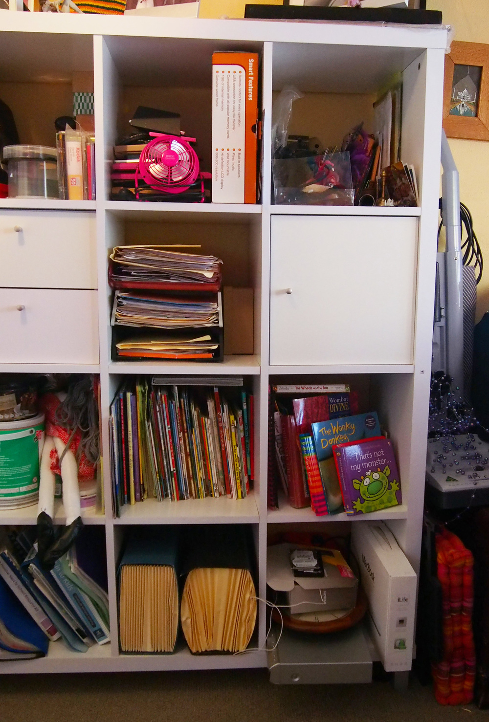 disorganised home office