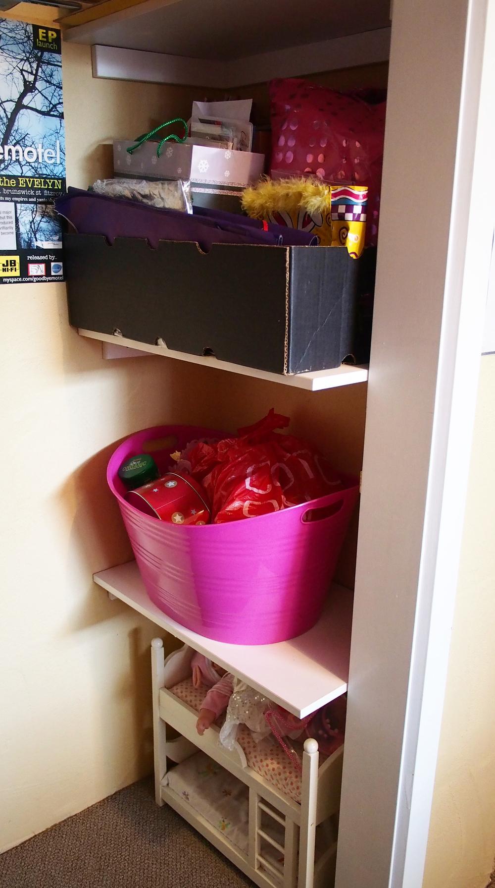 organised cupboard